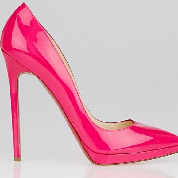 20b5d5a6e4b9 Christian Louboutin Shoes - Christian Louboutin Pigalle Plato Sz 38 Hot Pink